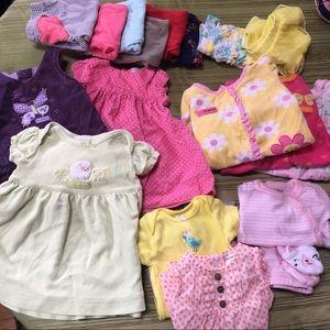 18 piece newborn baby girl wardrobe